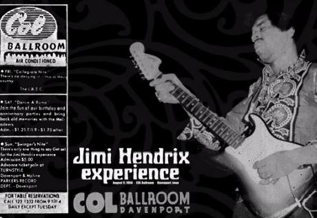 Jimi Hendrix – Live In Davenport, Iowa (August 1968)