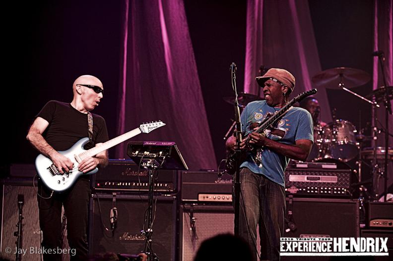 Joe Satriani with Vernon Ried of Living Colour