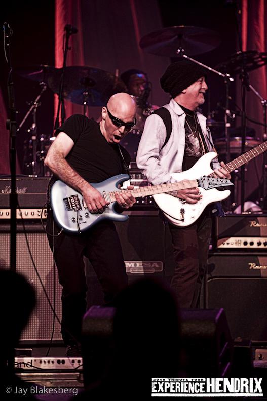 Joe Satriani with Brad Whitford of Aerosmith