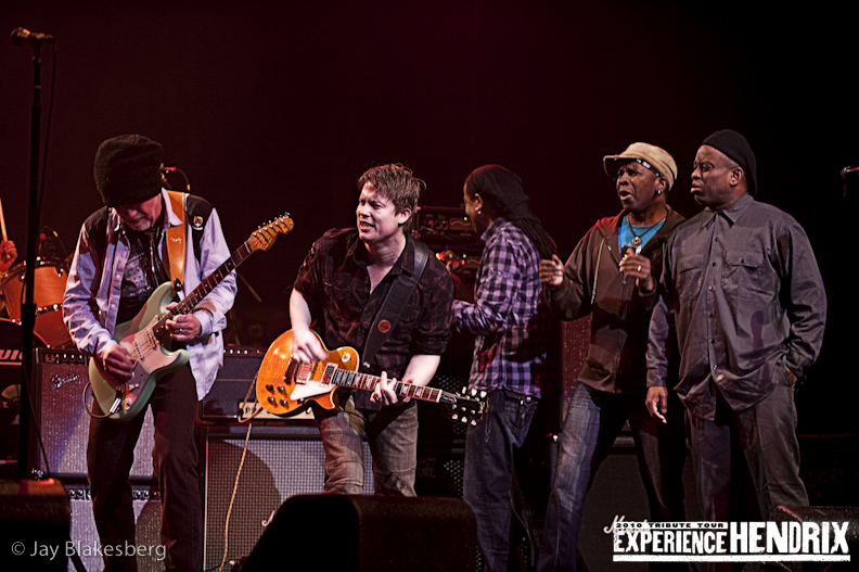 Johnny Lang, Brad Whitford of Aerosmith, and Living Colour