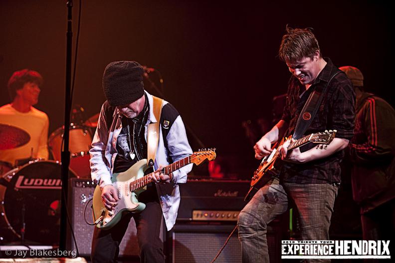 Johnny Lang and Brad Whitford of Aerosmith