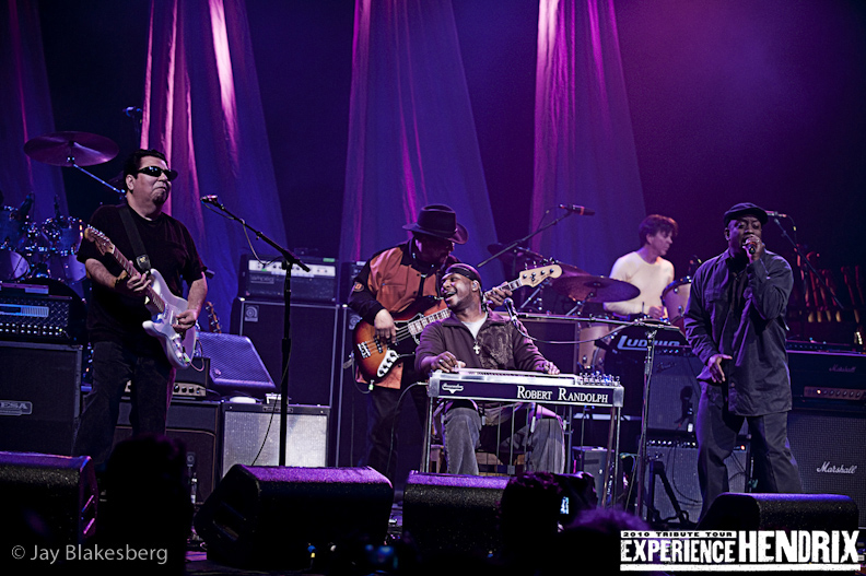 Robert Randolph with Billy Cox, Cesar Rojas of Los Lobos and Corey Glover of Living Colour