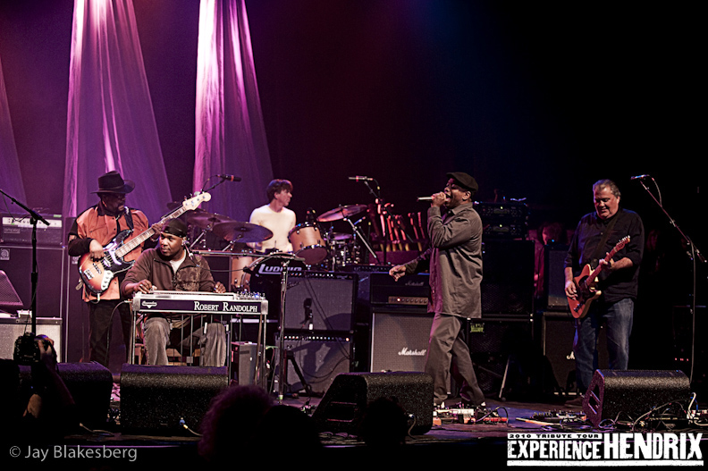 Robert Randolph with Billy Cox, Cesar Rojas  and David Hidalgo of Los Lobos and Corey Glover of Living Colour
