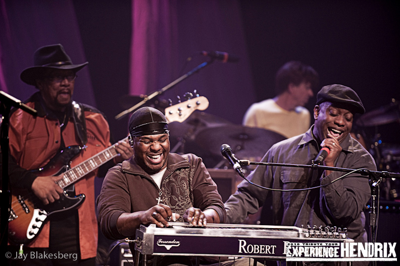 Robert Randolph with Billy Cox and Corey Glover of Living Colour