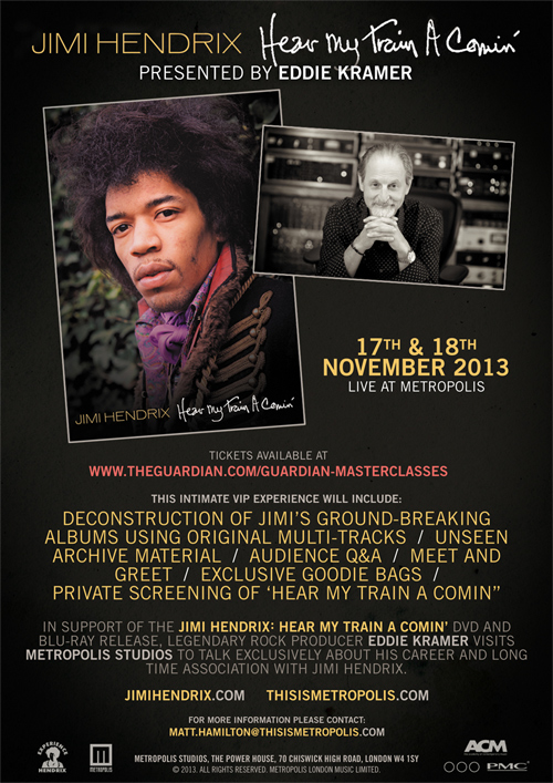 Jimi Hendrix Hear My Train A Comin Event With Eddie
