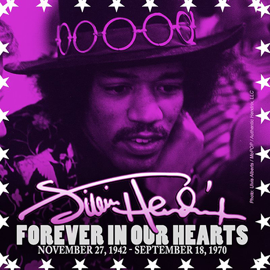 James 'Jimi' Marshall Hendrix - Forever In Our Hearts