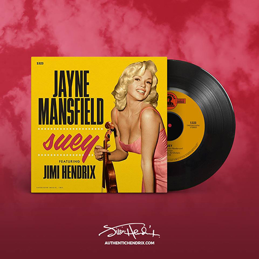 Jayne Mansfield - Suey 7-inch vinyl single featuring Jimi Hendrix