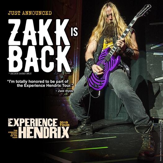 Zakk Wylde on Experience Hendrix 2019 tour