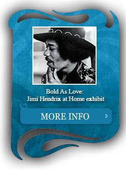 Caption for Bold As Love: Jimi Hendrix at Home Exhibit