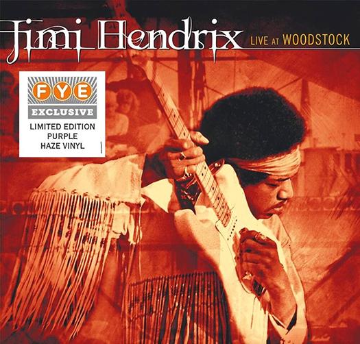Jimi Hendrix Live At Woodstock on Purple Haze Vinyl