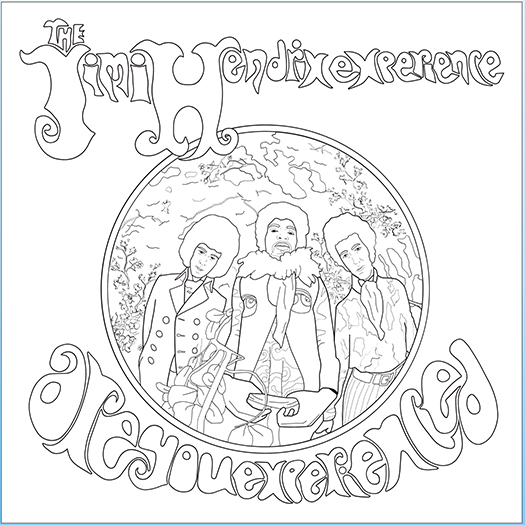 Jimi Hendrix Are You Experienced coloring