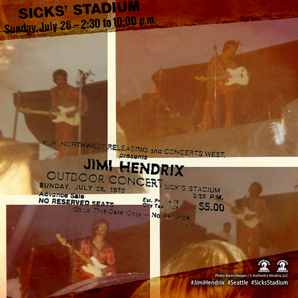Jimi Hendrix final concert performance in Seattle, Washington July 26, 1970