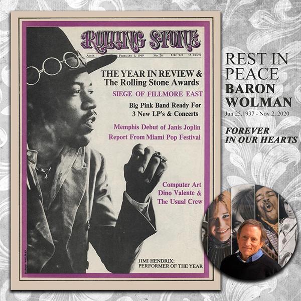 Jimi Hendrix Rolling Stone cover Baron Wolman