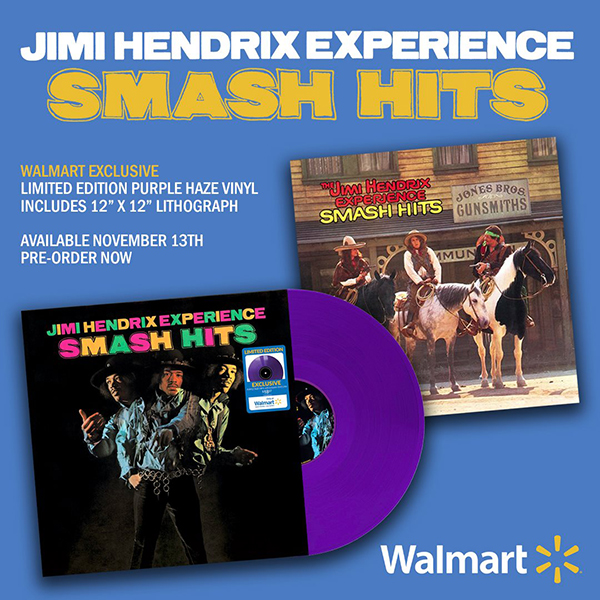 The Jimi Hendrix Experience - Smash Hits limited edition purple haze vinyl