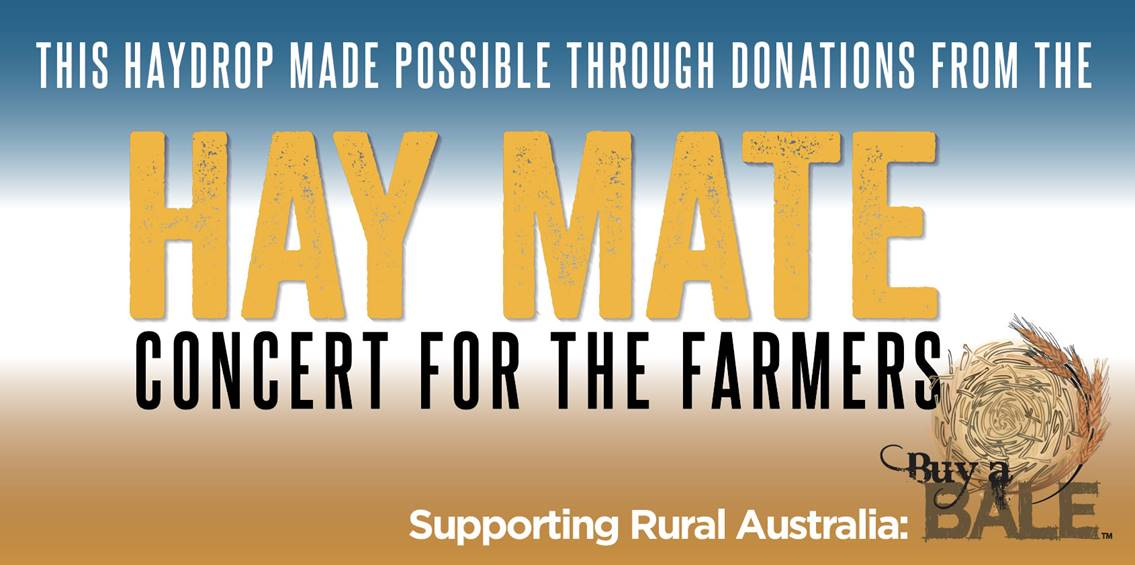 Hay Mate Concert proceeds deliver help to farmers in Tamworth