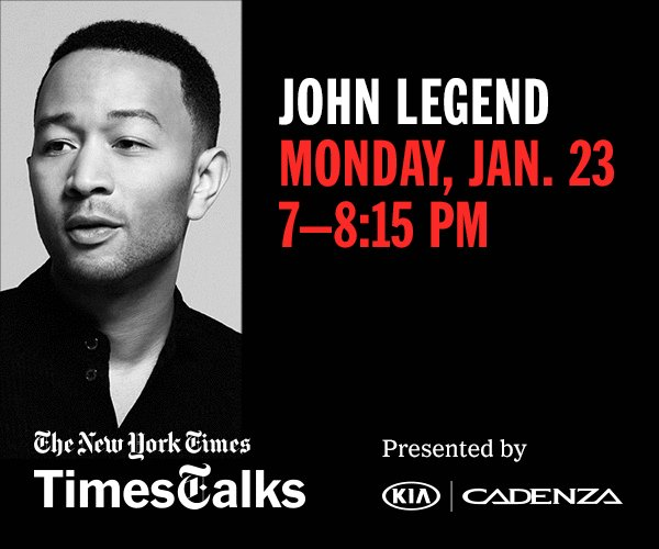 Join John Legend's Conversation About DARKNESS AND LIGHT