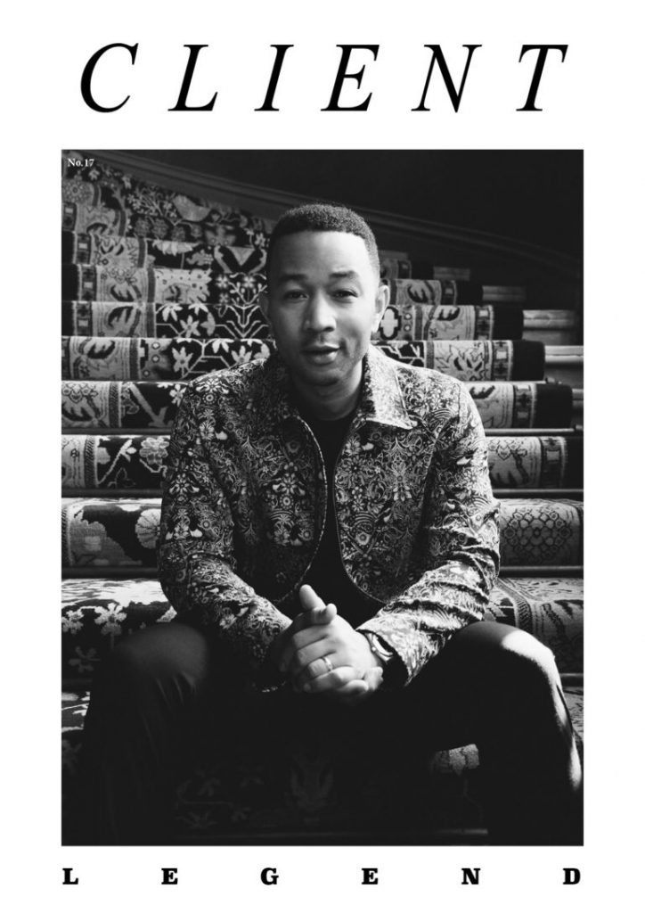 John Legend on the Cover of Client Magazine