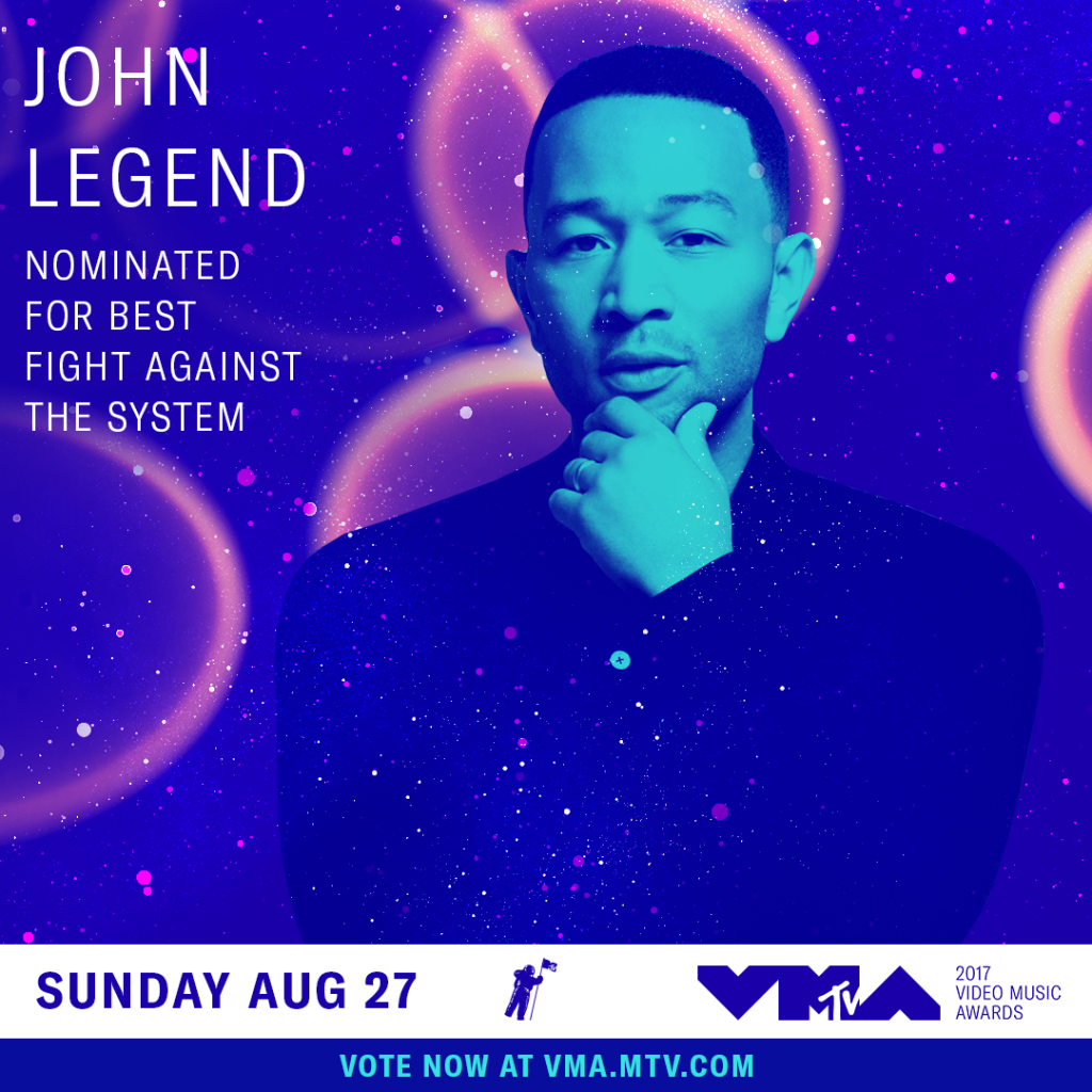 Congrats John Legend on Your VMA Nomination!