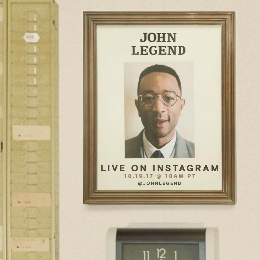 John Legend Is Going Live on Instagram