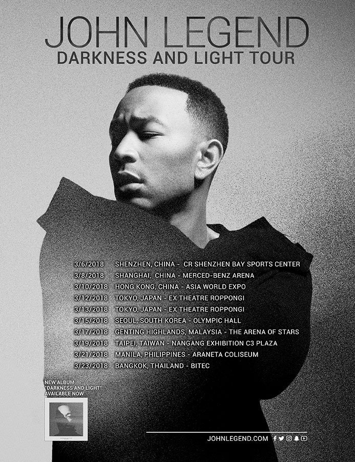 Darkness And Light Tour Comes to Asia!