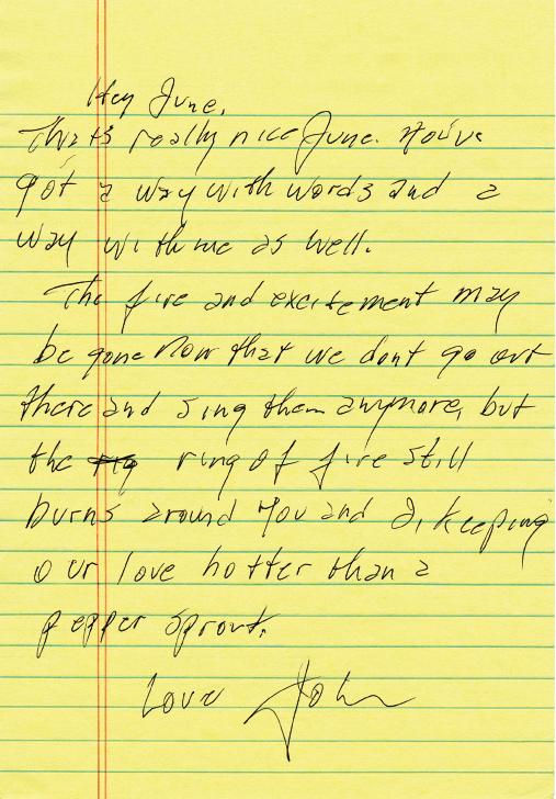 June Love Letter From House Of Cash By John Carter Johnny