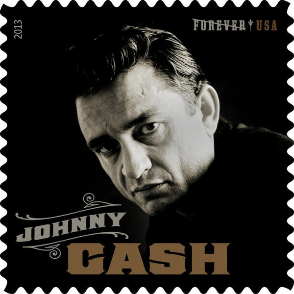Johnny Cash U.S. Forever postage stamp