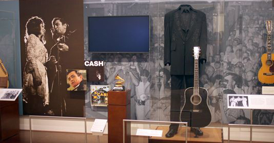 Johnny Cash and Carter Family exhibit at the Musical Instrument Museum