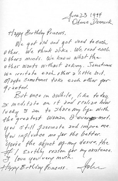 Johnny Cash love letter to June Carter Cash
