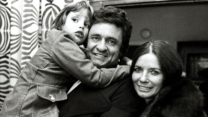 Johnny Cash, June Carter Cash and John Carter Cash