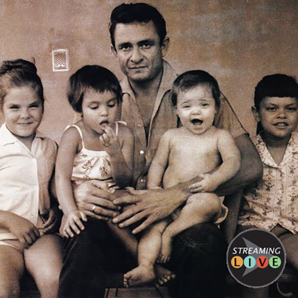Johnny Cash and his four daughters