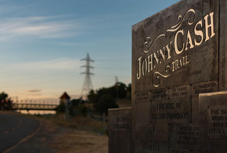 Johnny Cash Trail in Folsom