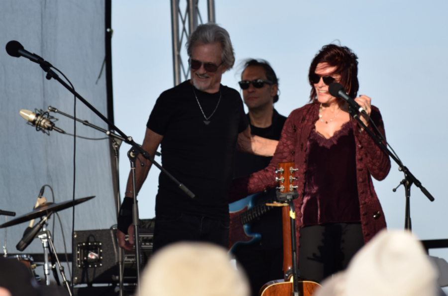 Kris Kristofferson with Roseanne Cash at Johhny Cash Heritage Festival