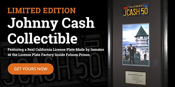 Limited Edition Johnny Cash Folsom 50th anniversary collectible
