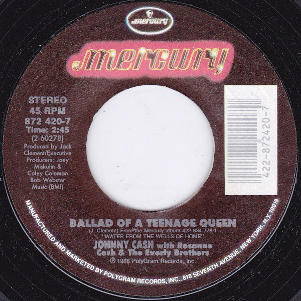 Johnny Cash - Ballad Of A Teenage Queen 1989 single