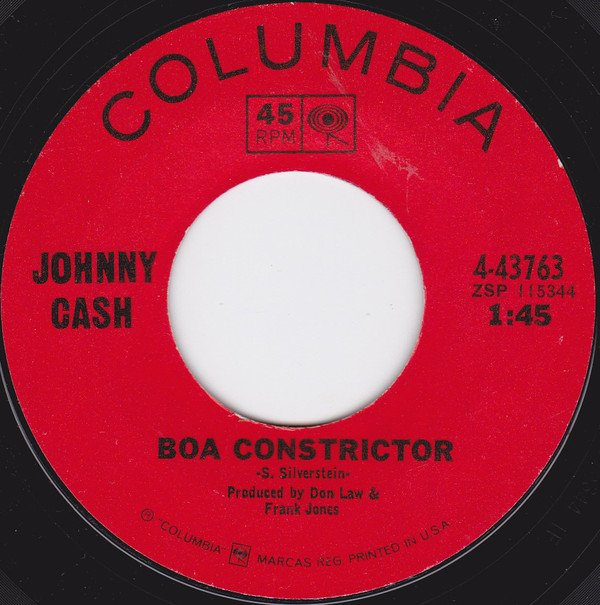 Johnny Cash - Boa Constrictor single