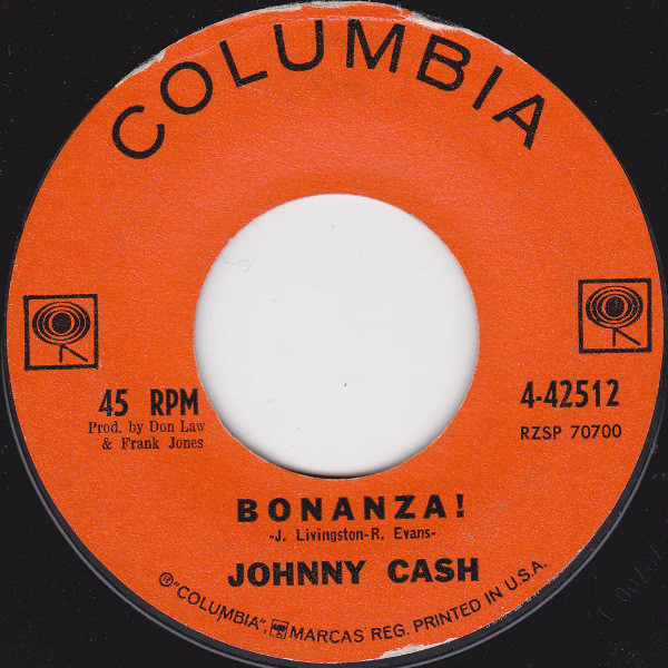 Johnny Cash - Bonanza! single