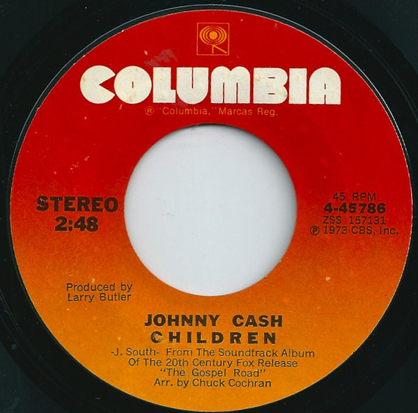 Johnny Cash - Children single