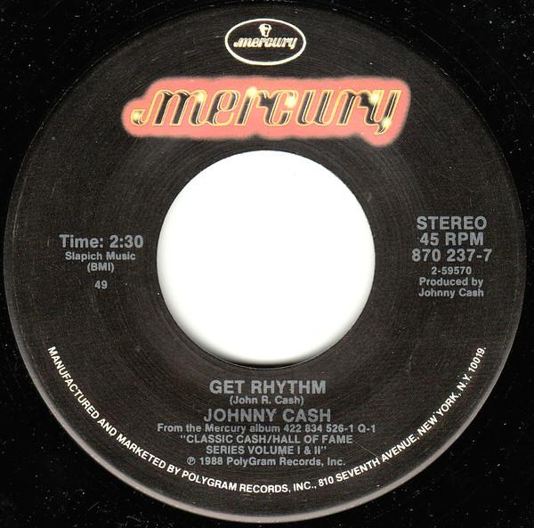 Johnny Cash - Get Rhythm 1988 single