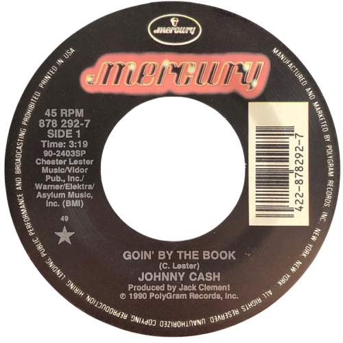 Johnny Cash - Goin' By The Book single