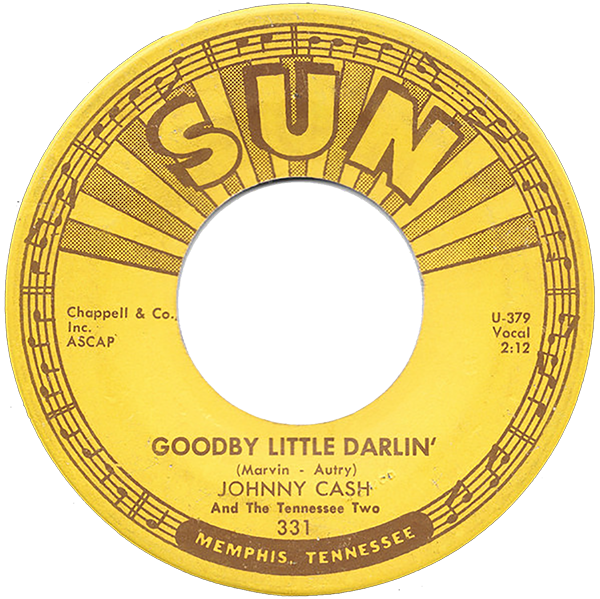 Johnny Cash - Goodbye Little Darlin' single