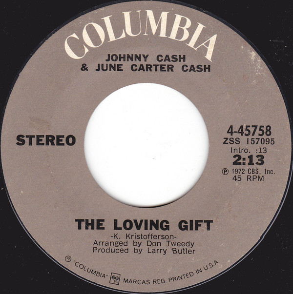 Johnny Cash - The Loving Gift single