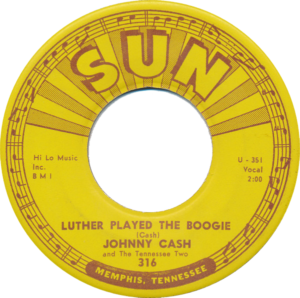 Johnny Cash - Luther Played The Boogie single