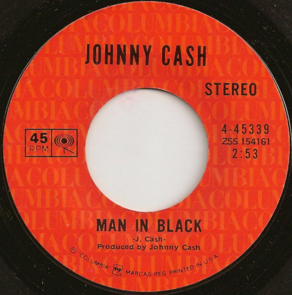 Johnny Cash - Man In Black single