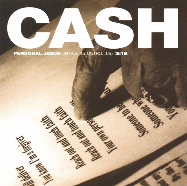 Johnny Cash - Personal Jesus single promo