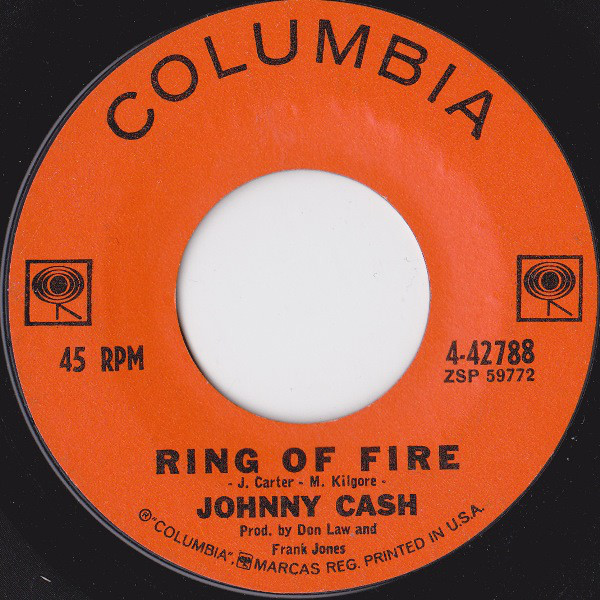Johnny Cash - Ring Of Fire single