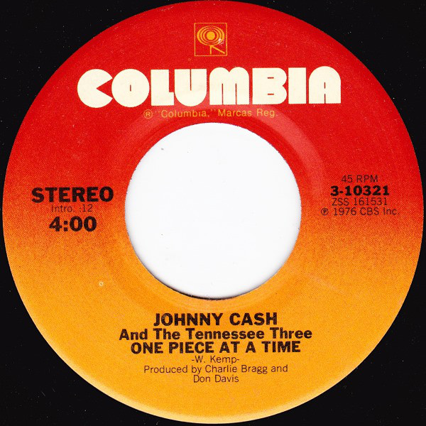 Johnny Cash - One Piece At A Time single