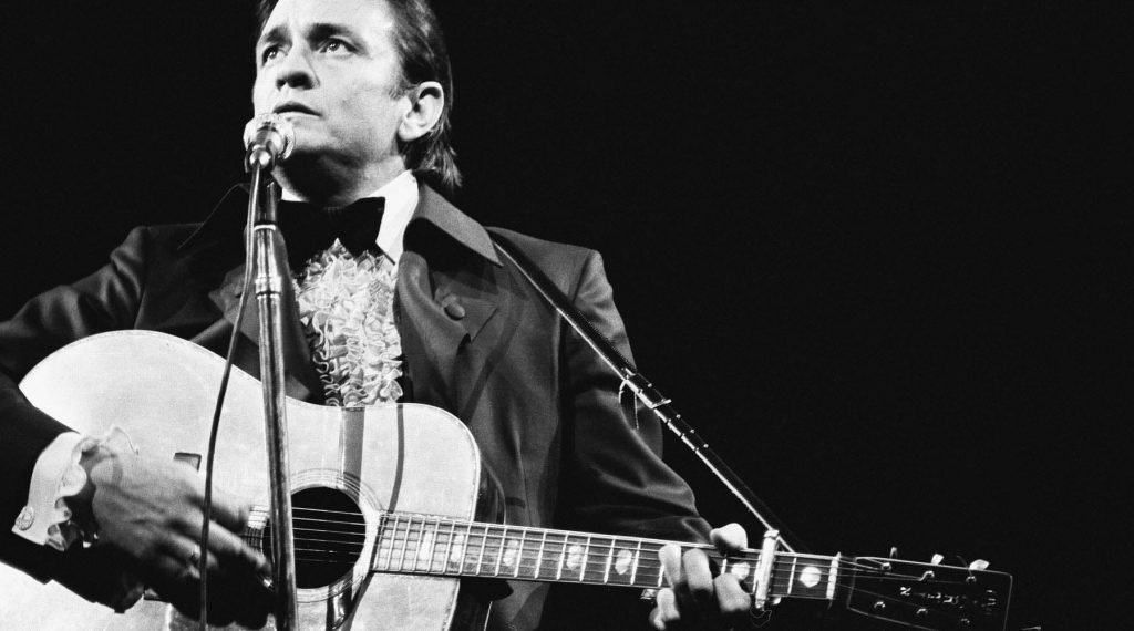 Johnny Cash On Stage At Madison Square Garden In December 1969