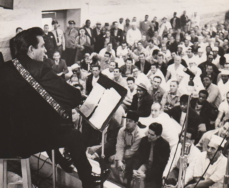 Johnny Cash at Folsom Prison in January 1968