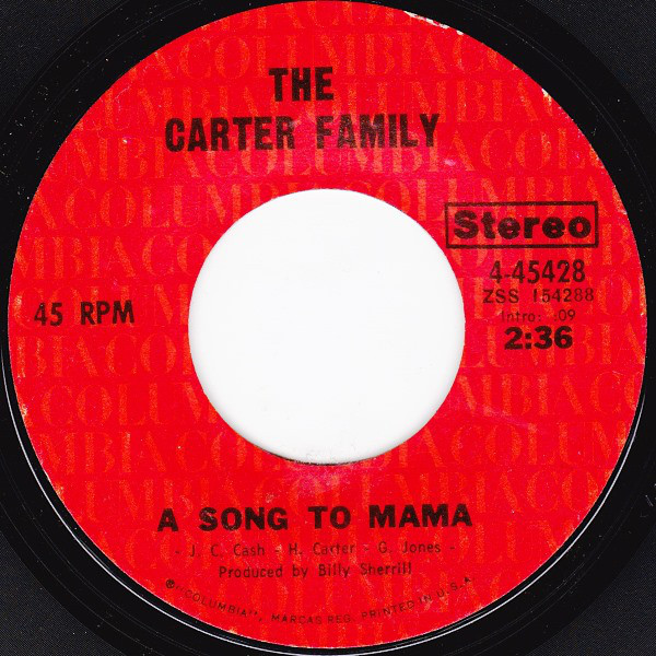 The Carter Family - A Song To Mama single