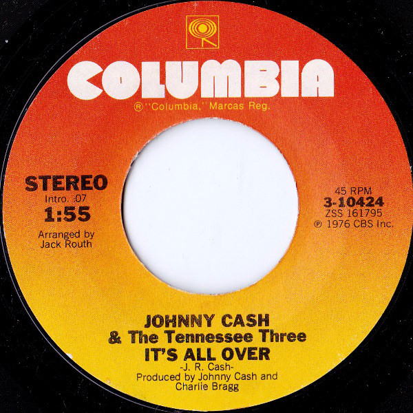 Johnny Cash - It's All Over single